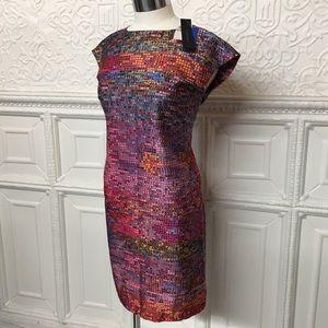 Cynthia Steffe Dresses - Cynthia Steffe Multi Print Silk Dress Sz 0 NWT🎉